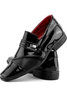 Sapato Social Infantil Masculino B'Karellus - Masculino-Preto