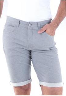 Bermuda Sarja Slim Amaciada 5 Bolsos Traymon Masculina - Masculino-Cinza