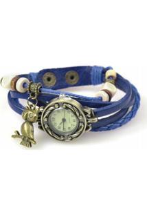 Relógio Decovian Analógico Azul