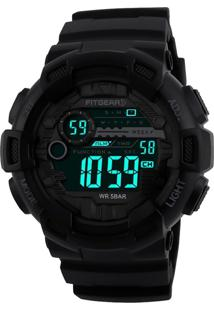 Relógio Fitgear Digital Vulcano Preto