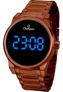 Relógio Champion Digital Marrom Ch40124R Feminino