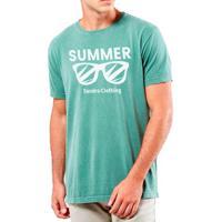 eb8679ea2c Camiseta Masculina Sandro Clothing Glasses Verde Água Estonada