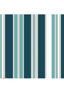 Papel Parede Listras Azul Com Verde 1,50X 60 - Branco - Dafiti