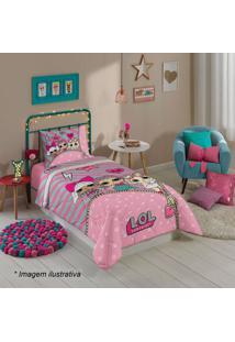Edredom Lolâ® Solteiro- Rosa Claro & Pink- 150X200Cm