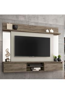 Painel Para Tv Até 55 Polegadas 2 Portas Tannat Canela/Areia - Notavel