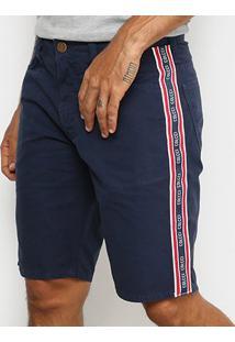 Bermuda Colcci Sarja Davi Masculina - Masculino-Azul Escuro