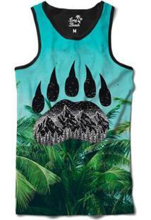 a765d6d894e5a Camiseta Regata Long Beach Pegada De Urso Palmeira Sublimada -  Masculino-Preto