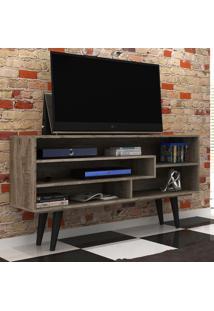 Rack Para Tv Até 49 Polegadas Morana Rústico Fosco - Manto Móveis
