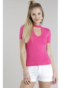 Blusa Choker Pink