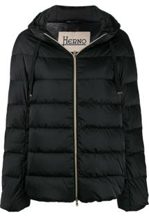 Herno Hooded Puffer Jacket - Preto