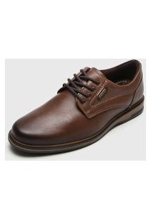 Sapato Social Pegada Pespontos Marrom