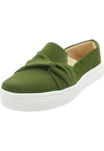 Tenis Hope Shoes Slipper Com Laã§O Cruzado Verde Militar - Verde - Feminino - Dafiti
