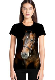 Camiseta Feminina Ramavi Cavalo Manga Curta