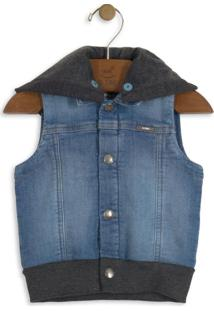 Colete Jeans Infantil Azul