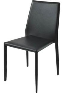 Cadeira Amanda 6606 Em Metal Pvc Preto - 23869 - Sun House