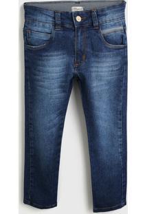 Calça Jeans Fakini Infantil Lisa Azul