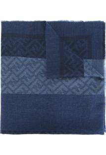 Fendi Echarpe De Lã - Azul