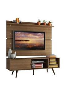 Rack Madesa Cairo E Painel Para Tv Até 65 Polegadas Com Pés De Madeira Rustic Rustic