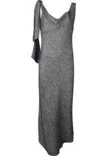 Maison Margiela Vestido De Tweed - Preto