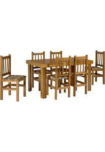 Conjunto De Mesa Com 6 Cadeiras Campo Cerejeira