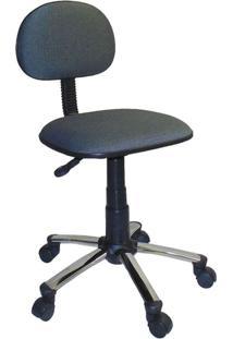 Cadeira De Escritório Secretária Giratória Direction Cromada E Cinza