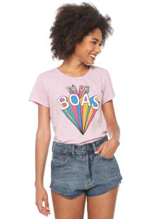 Camiseta Coca-Cola Jeans De Boas Rosa