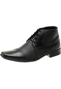 Bota Sapato Social Masculino Com Cadarço Amarrar Em Material Tecnológico Slz 1081