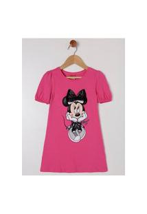 Vestido Disney Infantil Para Menina - Pink