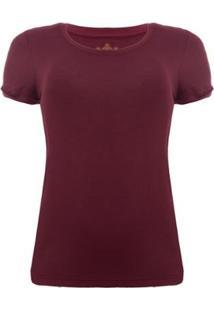 Camiseta Aleatory Viscolycra Vinho Feminina - Feminino