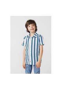 Camisa Infantil Menino Manga Curta Em Tricoline