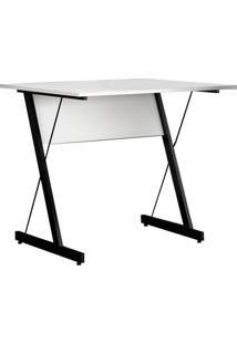 Mesa Para Computador Escrivaninha Zetta 120Cm Branco - Fit Mobel