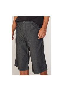 Bermuda Hd Plus Size Jeans Preta