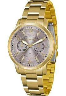 Relógio Feminino Lince Analógico Lmgj070L/N2Kx - Unissex-Dourado