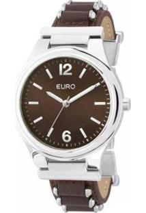 Relógio Feminino Euro Analógico Eu2035Yky/3M - Unissex-Prata