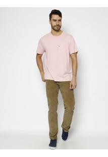 Camiseta Com Bolso & Tag - Rosa Clarolevis