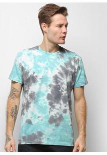 Camiseta Energia Natural Tie Dye Feminina - Unissex-Azul+Marinho