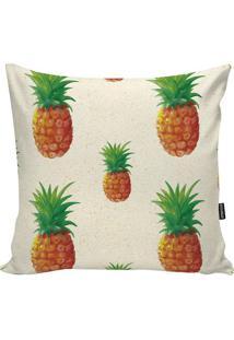 Capa Para Almofada Pineapple- Verde Claro & Laranja-Stm Home