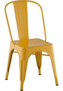 Cadeira Rivatti Iron Sem Braço Amarela
