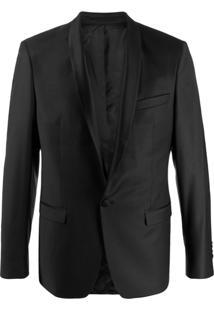 Karl Lagerfeld Jaqueta Matelassê Com Estampa De Logo - Preto