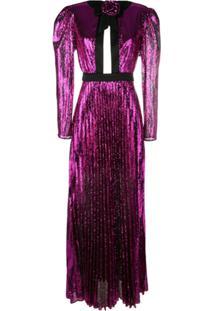 Philosophy Di Lorenzo Serafini Pleated Sequin Maxi Dress - Rosa