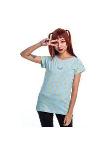 Camiseta Especial Long Sailor Moon Lua Azul