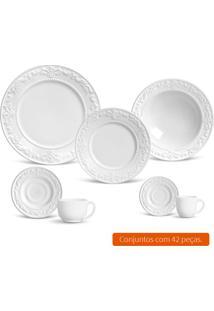 Aparelho De Jantar Com 42 Peças Acanthus Ii Branco