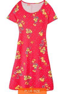 Vestido Estampada Evasê Floral
