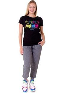 Camiseta Opera Rock T-Shirt Feminina - Feminino-Preto