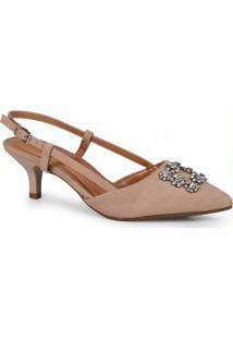 Sapato Feminino Scarpin Bege Bege