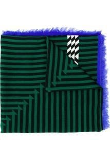 Haider Ackermann Cachecol De Seda Optical - Verde