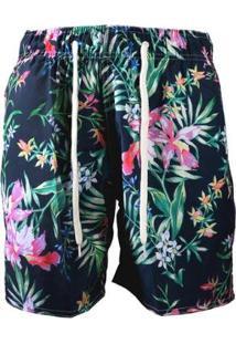 Bermuda Tactel Estampada Floral By Refactor Masculina - Masculino