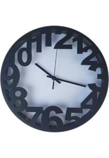 Relógio De Parede Estilo Vintage Detalhes Preto 30X30 - Minas