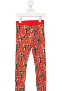 Stella Mccartney Kids Legging Com Estampa Gráfica - Vermelho