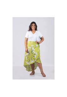 Camiseta Decote V Malha - Plus Size Marinho